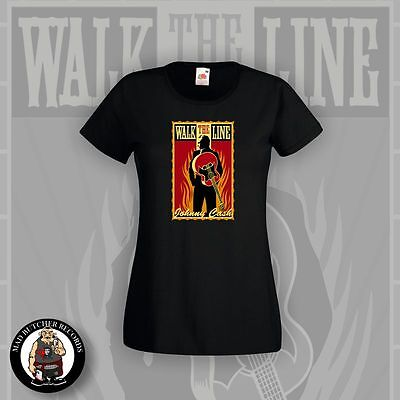 Johnny Cash Walk The Line Girlie Shirt Grösse S-Xl