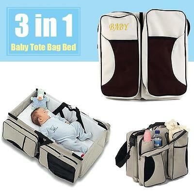 Fine Diaper Tote Bag Travel Bassinet Change Station Bed Nappy Infant Carrycot PE