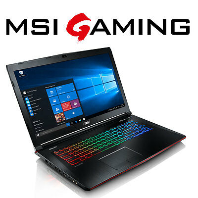 MSI Notebook GE72 Core i7-6700 - 16GB - 128GB SSD + 1TB - GTX 1060 - Windows 10