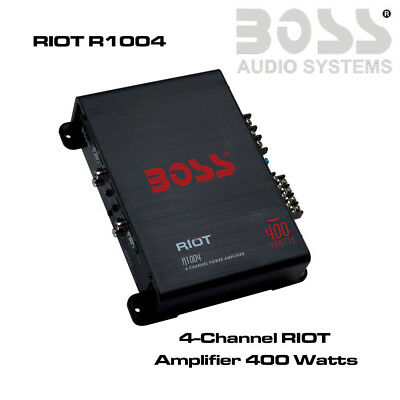 Boss Audio Systems R1004 - 4 Channel 400W Amplifier Speaker Amp Cheap Amplifier