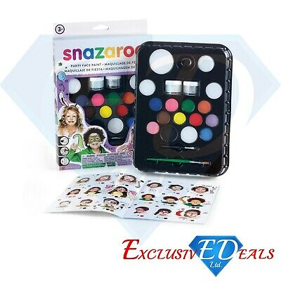 SNAZAROO ULTIMATE PARTY PACK Face Painting Kit - Face & Body Paint 65 Faces