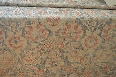 """Very Special Hand Printed Raw Silk Chenille – """"Bazaar"""" By Richard Smith  Ss206"""