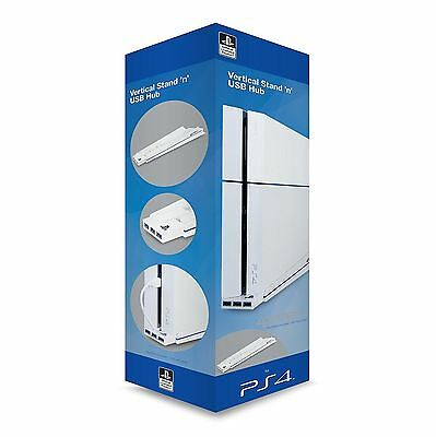 Sony PlayStation PS4 White Vertical Stand & Dock 4Gamers Officially Licensed NEW