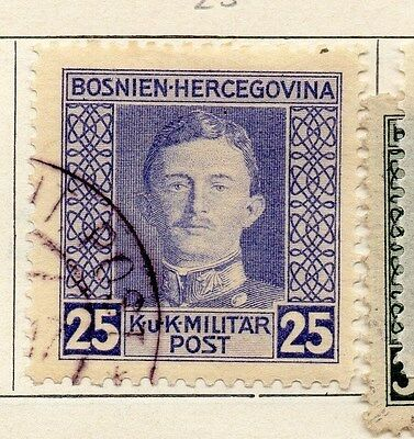 Bosnia Herzegovina 1917 Early Issue Fine Used 25h. 089471