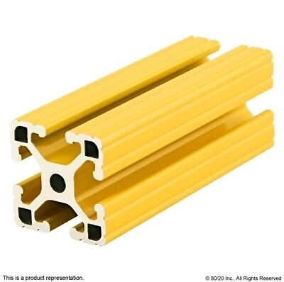 "80/20 Aluminum Extrusion Powder Coated 15 Series 1515-Lite-Yellow x 96.5"" Long N"