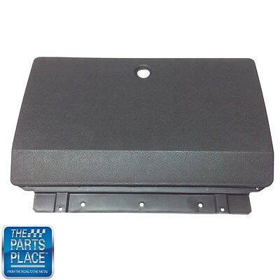 1969-69 GTO / LeMans Black Plastic Glove Box Outer Door with Hinge #1018 New