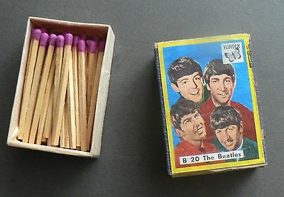 Very old filled matchbox with photo of  THE BEATLES    (1965-69)