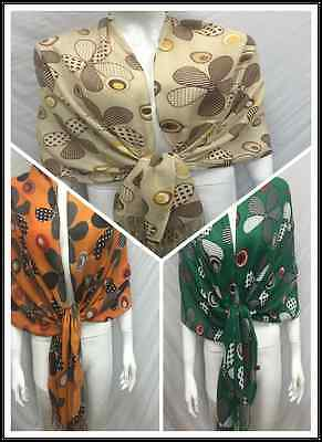 Wholesale 3Pcs $4.00 Each Floral Pattern All Season Reversible Wrap Scarf