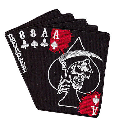 Reaper Dead Man's Hand Aces Raper Skull Spade Tactical Morale Hook Patch