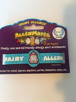 Allermates Allergy wristband DAIRY Blue