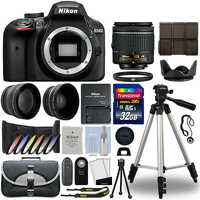 Nikon D3400 Digital SLR Camera + 18-55mm VR 3 Lens Kit + 32GB Best Value Kit