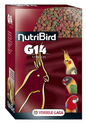 Aliments NutriBird G14 Tropical Versele Laga pour grandes perruches Sac 1 kg
