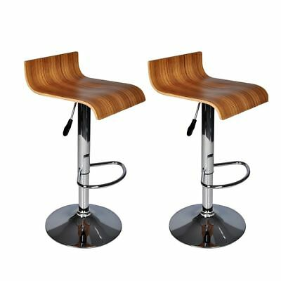 #bSET OF TWO BAR STOOLS WOODEN KITCHEN BREAKFAST BARSTOOLS