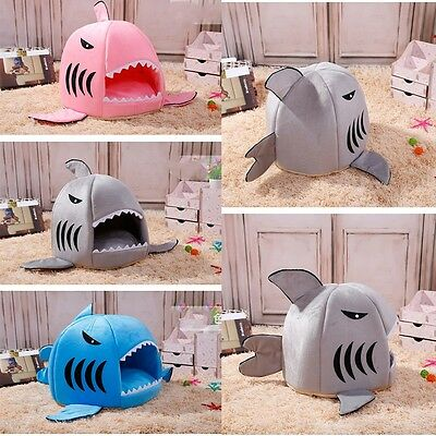 Pet Products Warm Soft Pet House Sleeping Bag Shark Dog Kennel Cat Bed Cat House