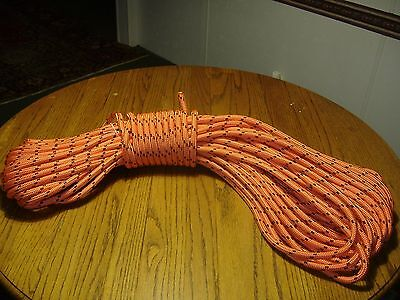 "Double Braid Polyester 1/2""x 200 feet arborist Blue Ox rigging tree rope line"