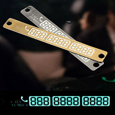 Night Light Puzzle Telephone Number Card Temporary Car Styling Luminous Sign