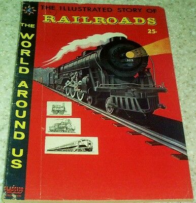 Classics Illustrated World Around Us 4: Railroads (VG/FN 5.0) 1958 50% off Guide