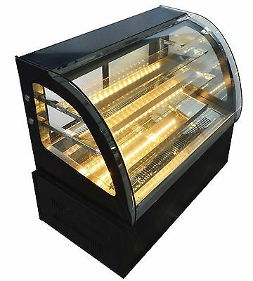 Commercial Countertop Refrigerated Cake Showcase 220V Diamond Glass Cabinet New