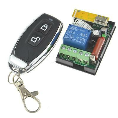 RF AC 220V 1CH Wireless Remote Control Switch Learning Code Transmitter Receiver