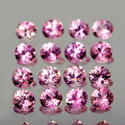 [VVS] ROUND 1.3mm (100PCS) SPARKLING PINK SAPPHIRE NATURAL LOOSE GEMSTONE AFRICA