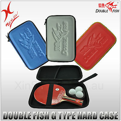 Double Fish Table Tennis -Hard Racket Bag / Bat Cover / Ping Pong Paddle Case