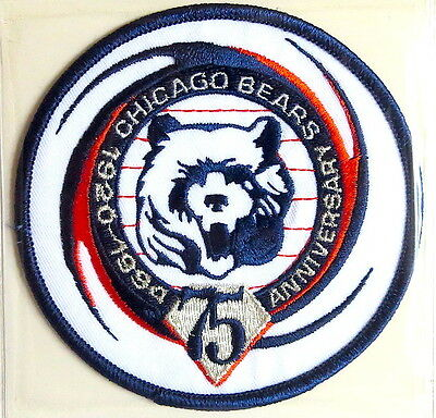 CHICAGO BEARS 75th ANNIVERSARY NFL TEAM PATCH Willabee Ward WORN 1994 Patch Only