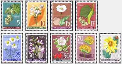 Timbres Flore Yougoslavie 667/75 ** lot 15327