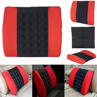 NEWCar Electrical Massage Seat Cushion Back Lumbar Posture Support Pillow DC12V