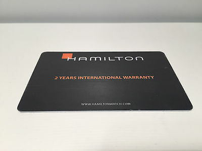 New - HAMILTON - 2 Years International Warranty Card - Watches Relojes Montres