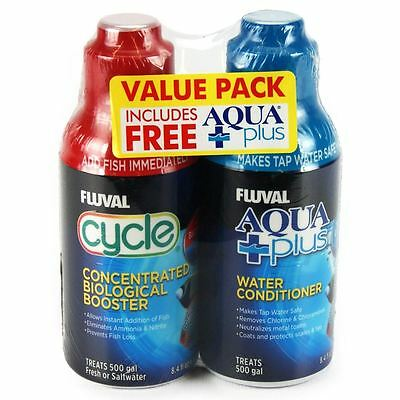 Fluval Cycle Biological Enhancer 250ml & Free Aquaplus 250ml Water Conditioner