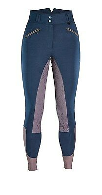 *SALE* Caldene Essen Ladies Breeches - Burgundy & Navy