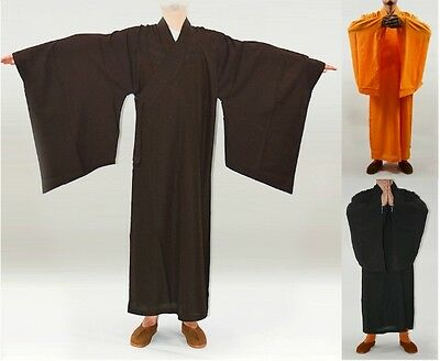Buddhist Monk Kung Fu Shaolin Robes Suits Uniforms Martial Arts Gown Clothing