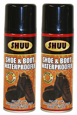 2x Waterproof Spray Guard for Shoes n Boots Leather All Outdoor Activity 200ml