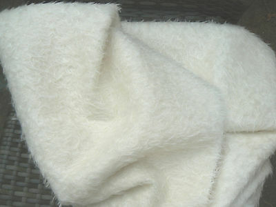 1/8 Metre Of Mohair/German,Antique Style  White