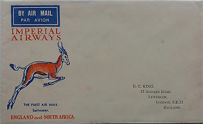 Great Britain 1929 Illustrated Imperial Airways First Flight South Africa Cover
