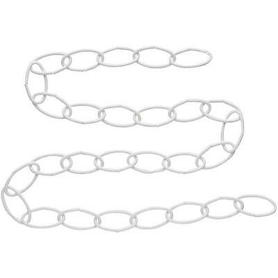 "50 Pk White Steel 36"" Screen Storm Door Closing Extension Chain N275016"
