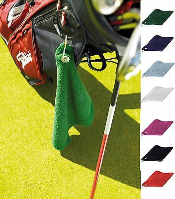 Luxury Golf Towel With Grommet And Hook Bag Clip Sport Various Colours