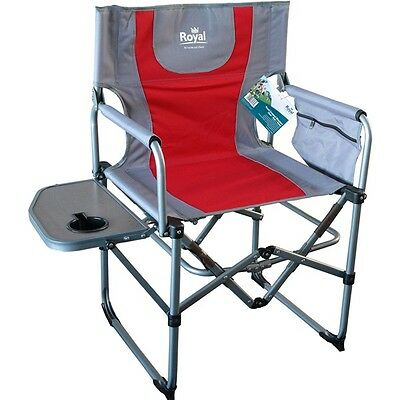 Compact Directors Chair - Red/Silver 355342 Royal New