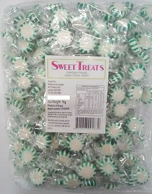 Green & White Starlight Pinwheel Mints (Apple) 1kg
