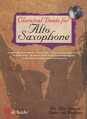 Classical Duets for Alto Saxophone Sheet Music Book & Play-Along CD