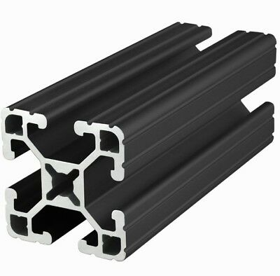 "80/20 Inc 15 Series  T-Slot Aluminum Extrusion 1515-UL-BLACK x 96.5"" Long N"