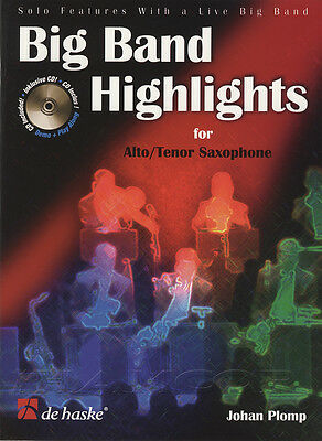 Big Band Highlights for Alto/Tenor Sax Saxophone Sheet Music Book with CD