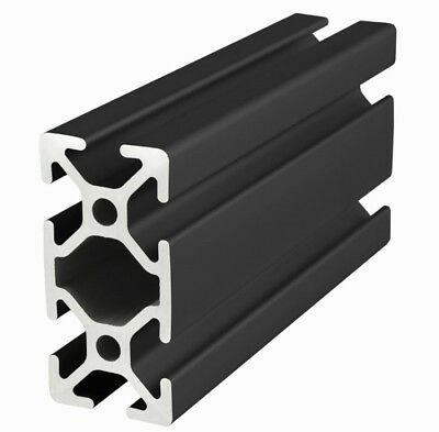 80/20 Inc 25mm x 50mm T-Slot Aluminum 25 Series 25-2550-Black x 915mm Long N