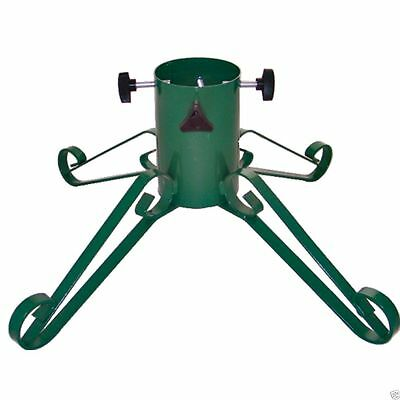 """Green Traditional Wrought Iron Metal Christmas Tree Stand  - 4"""" Trunk  7ft Tree"""