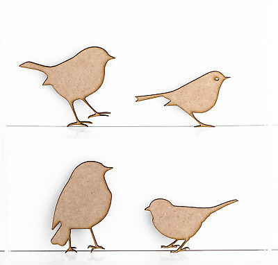 Wooden MDF Robins Christmas Tree Decoration 3mm Thick Gift Tag Blank Laser Cut