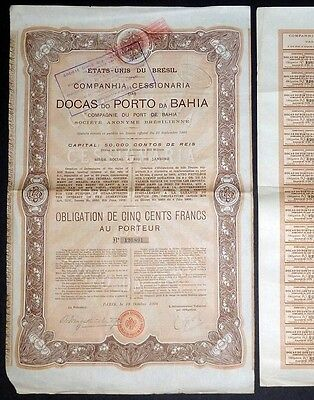 1906 United States of Brazil: Docas do Porto da Bahia