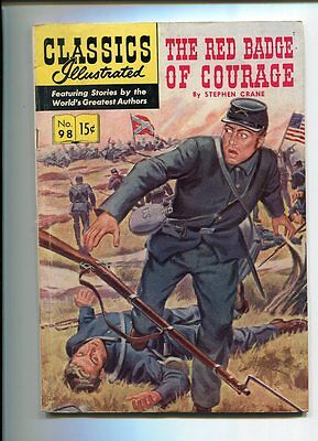 Classics Illustrated #98 Solid Grade Gorgeous Painted Cover Original Ed.