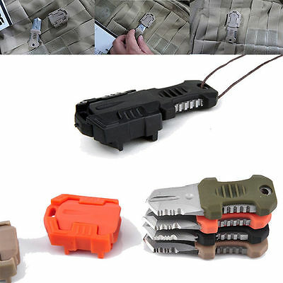 Mini Multifunction EDC Knife Pocket Survival Tool MOLLE Webbing Self Defense New