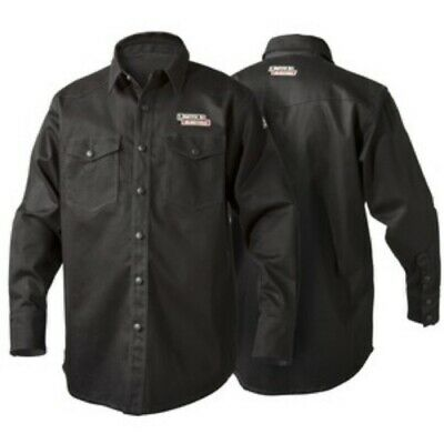 Lincoln Electric Black FR Welding Shirt - K3113  L, XL, 2X