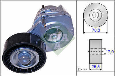 VAUXHALL ASTRA 1.7D Auxilliary Belt Tensioner 2004 on 534043810 Drive V-Ribbed